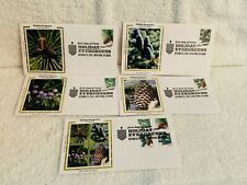 Holiday Evergreen FDC set of 5 First Day Issue 2010 Colorano Cachet FOREVER
