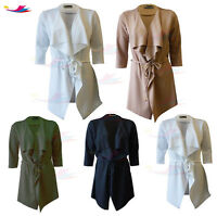 Womens Waterfall Celeb Inspire Cap Sleeve Belted Cardigan lot Jacket Top 8-14