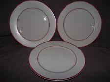Set of 3 Ralph Lauren Red Pagoda Dinner Plates