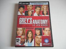 JEU PC DVD ROM - GREY'S ANATOMY / LE JEU VIDEO - COMPLET