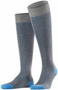 Falke Mens Dot Knee-High Socks - Steel Melange Grey