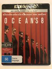 Ocean's 8 (4K + Blu-ray, 2018, 2-Disc Set) Brand New & Sealed Movie �Ÿ� Rated M