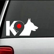 K-9 Dog Car Window Vinyl Decal Sticker (Any Color)