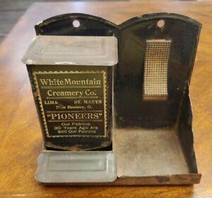 Vintage White Mountain Creamery Co. Match Holder & Striker