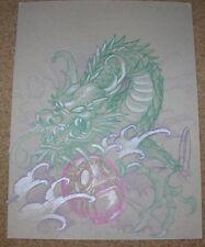 JOE CAPOBIANCO Dragon Original Color Pencil from BITE ME Sketchbook SIGNED