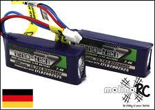 2x Turnigy nano-tech 300mah 2S 35~70C NEU Lipo Akku 7,4V E-flite micro