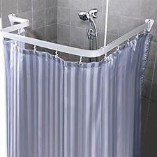 Bendable Shower Curtain Rod Flexible Custom Free Form Arch Curve Corner White