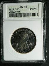 1925 U.S. VANCOUVER Commemorative Half $  - MS-63 (ANACS)  stk#8741