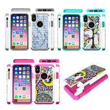 10pcs/lot Diamond Shockproof Case Impact Combo Hybrid 2 in 1 Cover for iPhone X