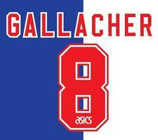 No 8 Gallacher Blackburn Rovers Home 1995-1996 Football Nameset for shirt