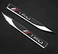 2pcs Metal Black TRD Blade Emblems Badge Sticker for sports Auto car Fender hot