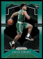 2019-20 Panini Prizm Prizms Green #276 Carsen Edwards Boston Celtics