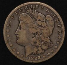 1892-CC Morgan Dollar:  problem-free, uncleaned VG-Fine