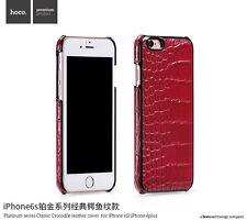 For iphone 6 6s Plus Genuine Leather Slim Back Case Cover Hoco Crocodile Series
