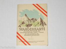Wanderkarte Gmünd 5, provisorische Ausgabe, Landkarte, Österreich, 1962