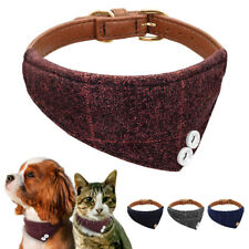 Bandana-Style Dog Collars Leather Neckerchief Necklace Neck Scarf for Pets Cat