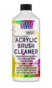 Acrylic Nail Brush Cleaner POWERFUL Liquid Cleaner for Acrylic Brushes 100ml *UK