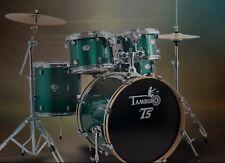 """TAMBURO T5 Schlagzeug mit 20"""" BASSDRUM - NEU in grün sparkle !"""