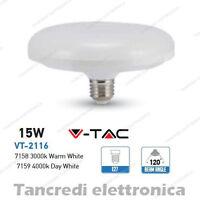 Lampadina led V-TAC 15W = 90W E27 VT-2116 ufo disco alta luminescenza lampada