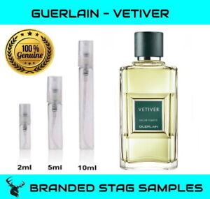 GUERLAIN Vetiver - EDT Men's Travel Tester Sample 2ml / 5ml / 10ml sizes