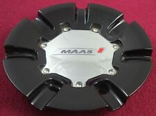 Maas Racing Wheels Gloss Black / Chrome Custom Wheel Center Cap # MAAS-23 (1)
