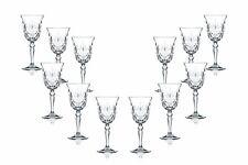 Melodia Water Stemmed Glasses 9.25 Oz, Crystal Cut Glassware Set of (12)