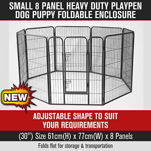 30'' 8 Panel Pet Dog PlayPen Dog Crate Heavy Duty Foldable Enclosure Fence Small