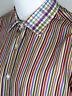 ETRO MILANO MEN'S STRIPED COTTON DRESS SHIRT SIZE 41