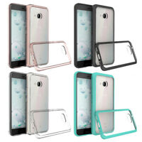Thin Soft Crystal Clear Transparent Gel Case TPU+PC Cover Protective For HTC U11