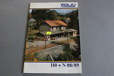 X399 POLA Train catalogueHo N 1988 1989 86 pages 29,7*21,2 cm F