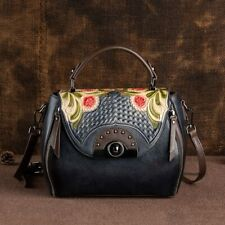 Luxurious Retro Embossed First Layer Cow Leather Women Bag  New Handmade leisure
