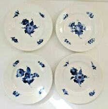 Royal Copenhagen Blue Flower, braided, bread/butter plates (8092), four (4)