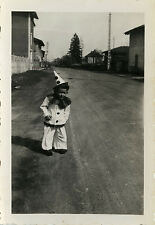 PHOTO ANCIENNE - VINTAGE SNAPSHOT - ENFANT CARNAVAL DÉGUISEMENT PIERROT-DISGUISE
