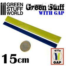 "Green Stuff World Kneadatite Blue/Yellow Green Stuff 6"" / 15cm Epoxy Putty Bar"