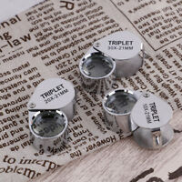 Triplet Diamond  Glass Magnifying Magnifier Jeweler Eye Jewelry Loupe Loop NTAT