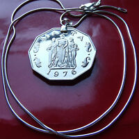 Maltese Great Monument Coin Pendant on a .925 Italy Sterling Silver Snake Chain.