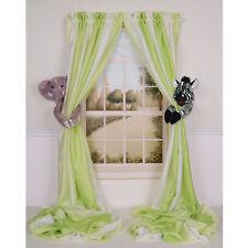 Baby Nursery Jungle Safari Lion and Giraffe Curtain Tieback Set