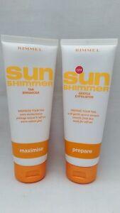 Rimmel Sun Shimmer Gentle Exfoliator 125ml  & Tan Enhancer 125ml