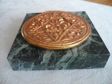 Greek Paper Weight / Bread Stamp Marble Base Authentic Collectable Item Bnib