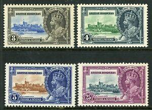 British 1935 KGV Silver Jubilee Honduras Scott # 108-111  Mint Non Hinged Y97