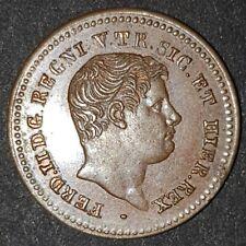 Two Sicilies, Ferdinand II, Mezzo Tornese, 1838, Fleur de Coin