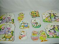 Vtg Spring Easter1970s  2 sided Bulletin Board Visual Aids Classroom Wall Decor,
