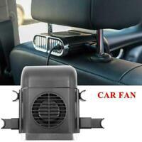 5V USB Car Seat Back Fan 3-Speed Silent Cooling Mini Pole Seat Headrest Fan E8Q7