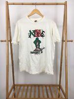 VTG Vanz 90s Men's University Of Maryland Short Sleeve White T-Shirt Size XL USA