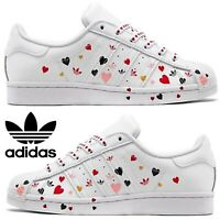 Adidas Originals Superstar Sneakers Women's Casual Shoes Running White Pink