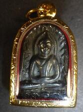 REAL LEK LAI Black Jewel of Thailand PHRA SOMGOR - SOMKOR Buddha Amulet