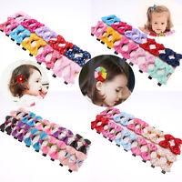 20 X Handmade Bows Hair Clip Alligator Clips Girls Ribbon Kids Sides Accessories