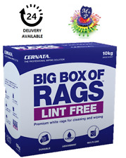 Cernata LINT FREE Premium White Rags for Cleaning and Wiping 10kg