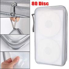 80 Disc CD DVD Sleeve Portable Storage Case Cover Wallet Hard Box Bag Holder