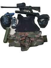 Tippman A-5 with lots of extras and paintball starter kit